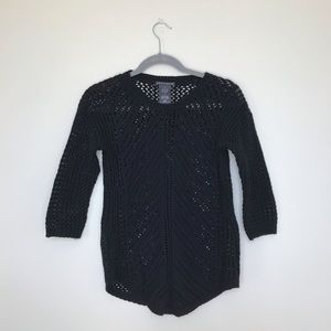 Chelsea & Theodore | Crochet Crew Neck Sweater